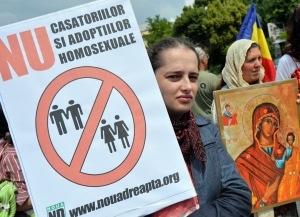 ROMANIA-ANTI-GAY-PROTEST