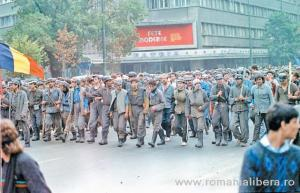 Miners invading Bucharest
